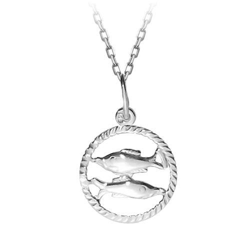 Halak horoszkópos ezüst nyaklánc