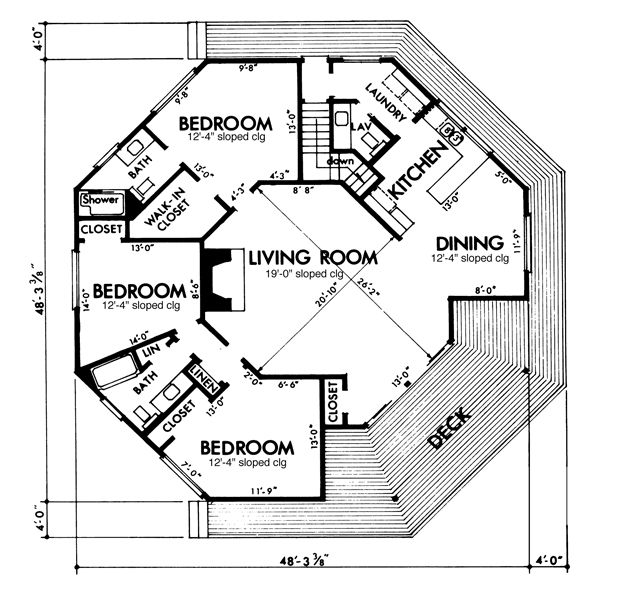 9 best images about round octagonal house on pinterest for Octagon deck plans free