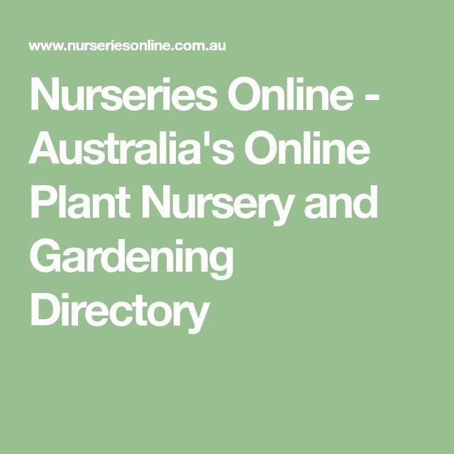 Nurseries Online - Australia's Online Plant Nursery and Gardening Directory