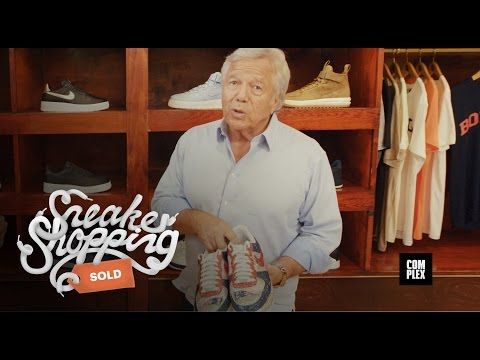 KIX & LIDZ: Video: Sneaker Shopping With Robert Kraft | Complex...Robert Kraft goes Sneaker Shopping with Joe La Puma at Bodega in Boston and talks about wearing Air Force 1s to the White House and his opinion on custom cleats.