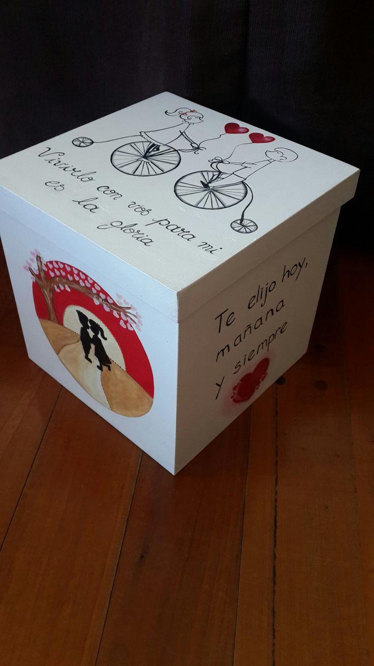 Caja cubo aniversario personalizada regalos rom nticos for Sorpresas para aniversario