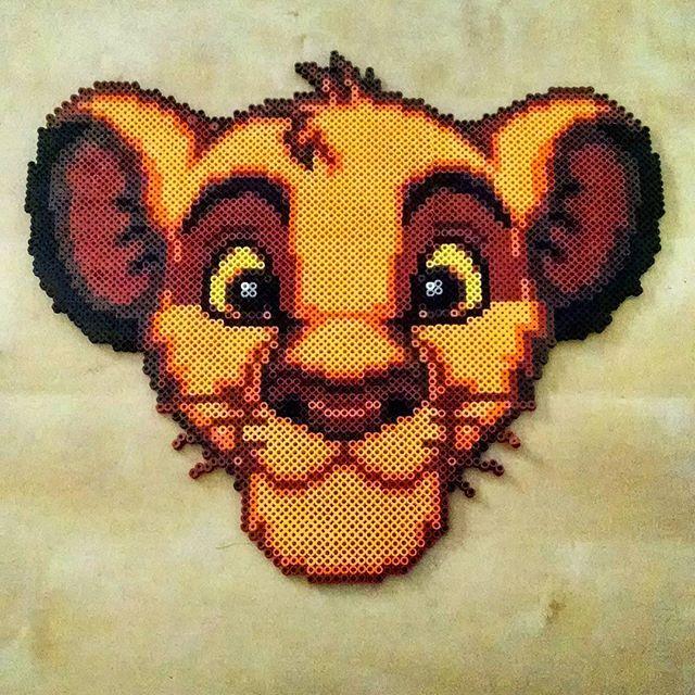 Simba - The Lion King perler beads by Rachel's Dreamland
