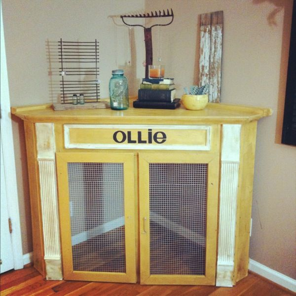 dog crate perfect for our new house dining room/kitchen corner