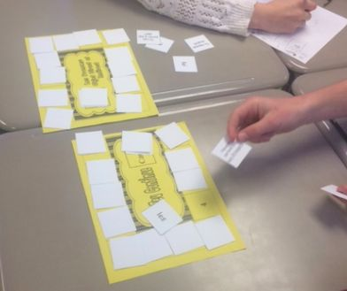 Foreign Language Verb Form or Vocabulary Card Game-New Twist on Memory