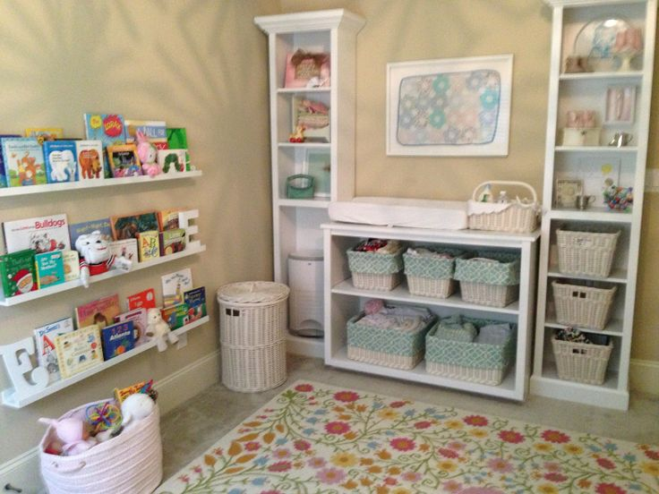Chapin Group Interiors : Display shelves converted to changing table
