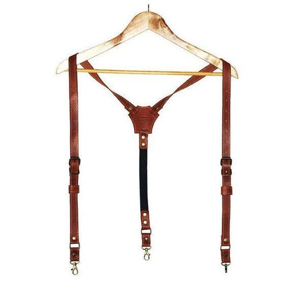 Sposo in pelle personalizzati bretelle bretelle di di theOneBee