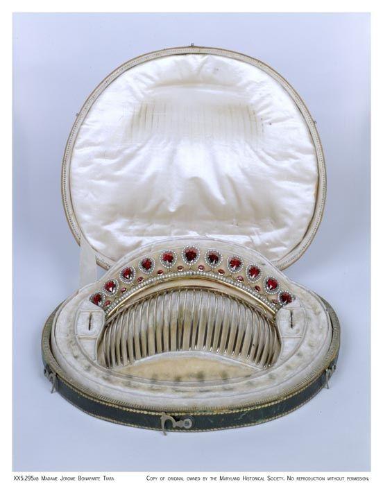 Garnet Tiara worn by Elizabeth Patterson Bonaparte, circa 1803-5, Maryland Historical Society, Gift of Mrs. Charles Joseph Bonaparte