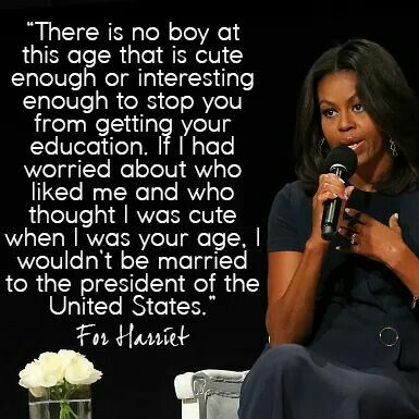 Michelle Obama is one of my besties in my mind.