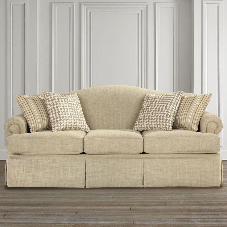 Camel-Back Sofa Boxed Seats Boxed Skirt