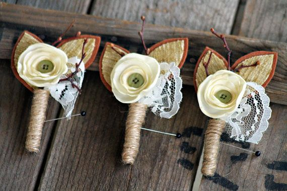 Laurence  a handmade textile art boutonniere by pair on Etsy, $15.00
