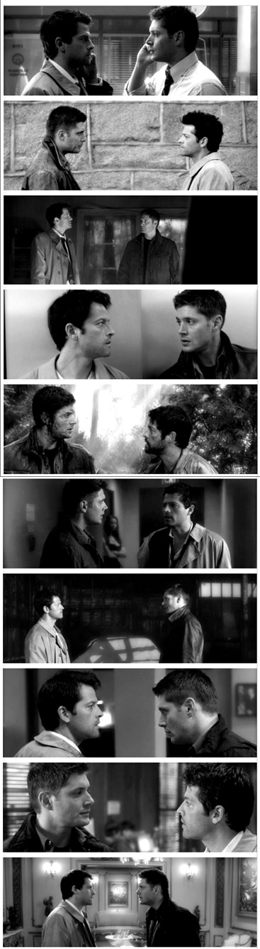 """""""We have more eye sex than Dean and Cas."""" Don't think that's possible..."""