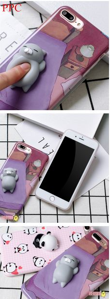 Lovely 3D Soft lazy cat phone Cases For iphone 6 6s 6plus 7 7Plus cartoon Soft TPU phone back cover   http://s.click.aliexpress.com/e/eE2RvRj