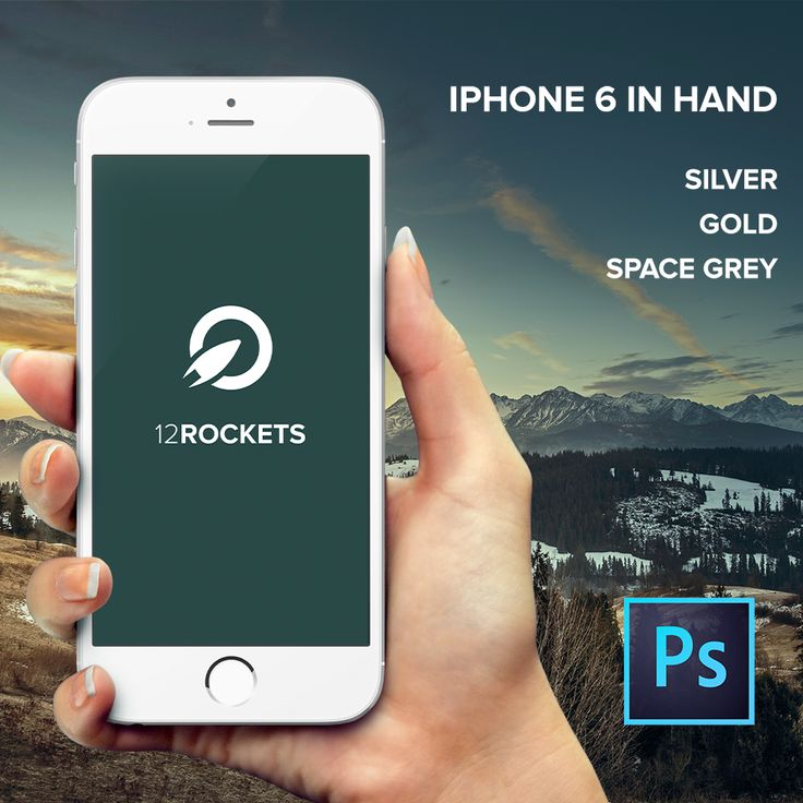 Free PSD iPhone 6 Mockup Template In Hand