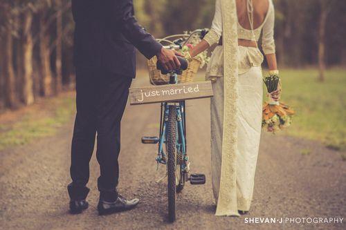 Puba + Devin: Vintage Sri Lankan Wedding in Melbourne by Shevan J Photography - ivory wedding saree - Sri Lankan wedding - Sri Lankan bride - Sri Lankan groom - Just Married - vintage blue bicycle - rustic farm photo shoot #thecrimsonbride