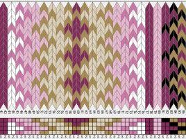 Beltestakk 017 - 118 brikker - rosa