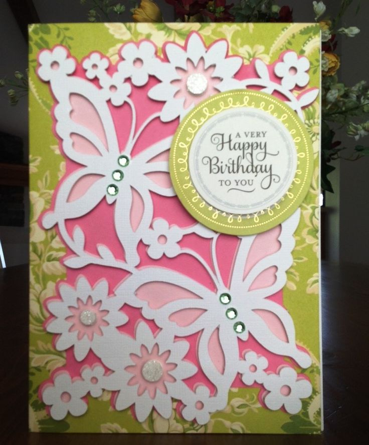 Card by d marshall using an anna griffin s lace