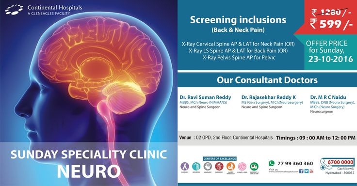 Sunday Speciality #Neuro Clinic @Continental Hospitals At An #Offer Price Of Rs 599/-