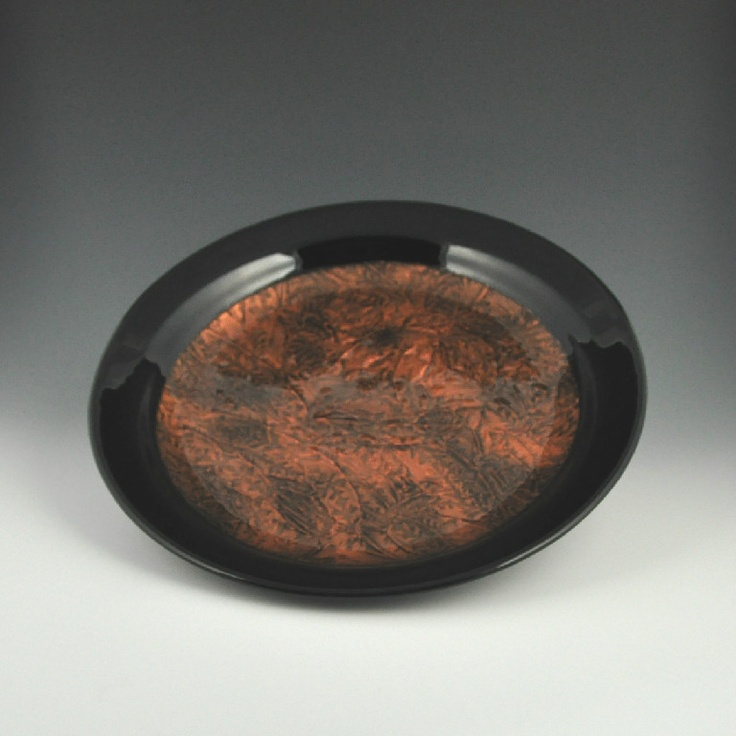 "15"" fused glass - Copper Bowl"