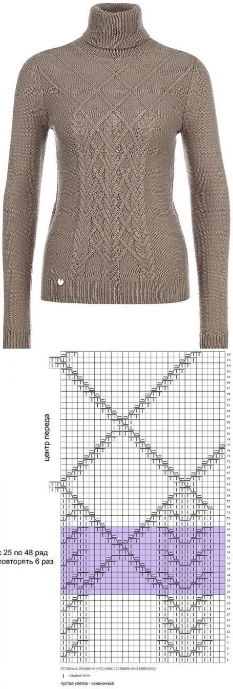 схема узора к свитеру