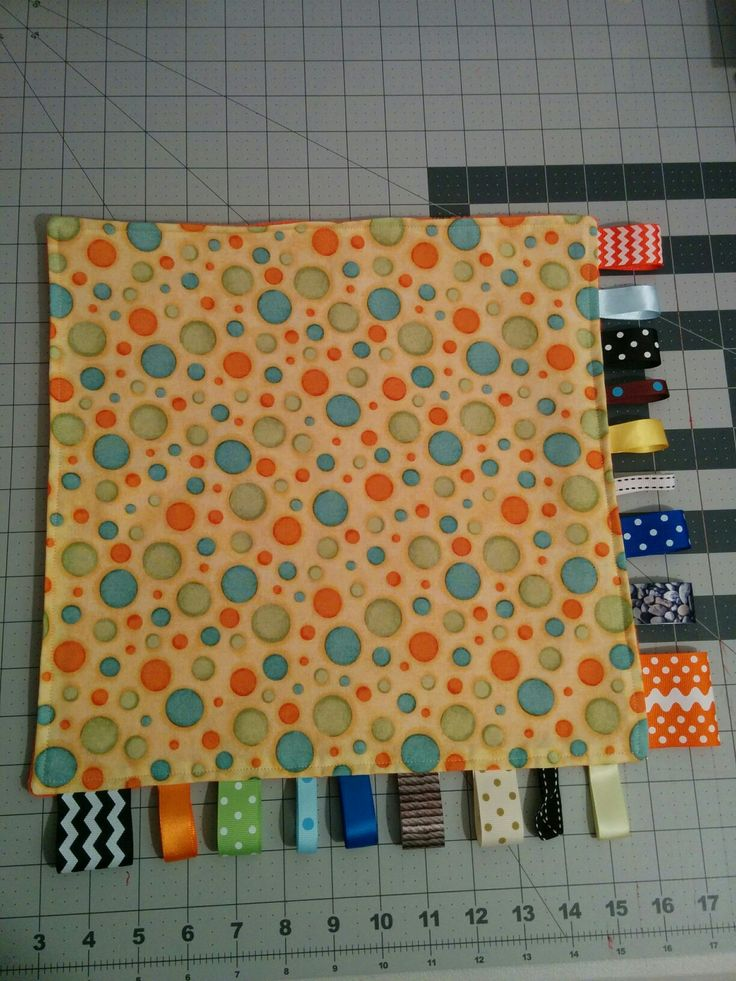 Tag Lovey Blanket.  I like only half tag as who wants tags in their face?