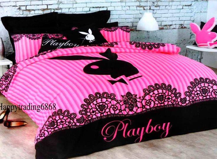 pink playboy bed set more bedrooms set ups bed sets bedding butterflys