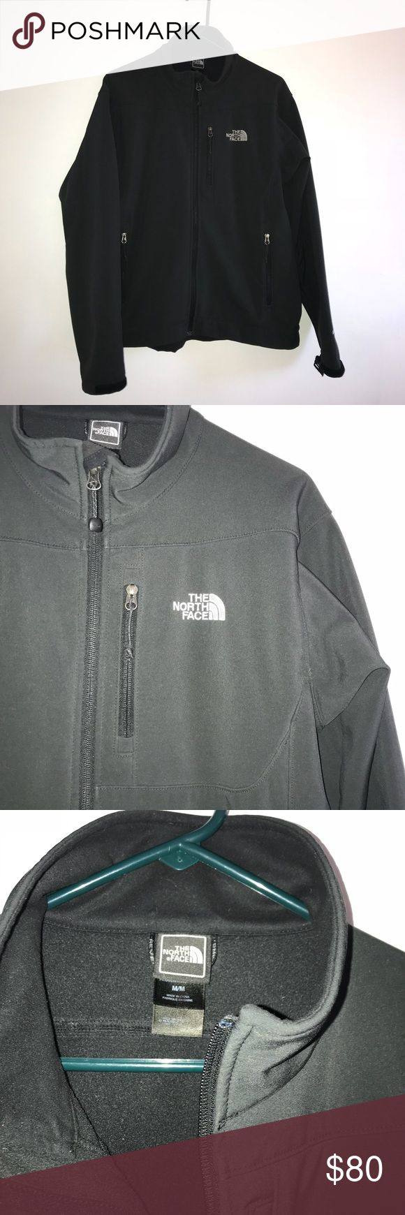"""Men's North Face Jacket Barely worn men's North Face windbreaker/rain jacket lined in fleece. Excellent condition. All zippers work, no stains or tears. Shoulder width is about 20"""". The North Face Jackets & Coats Raincoats"""