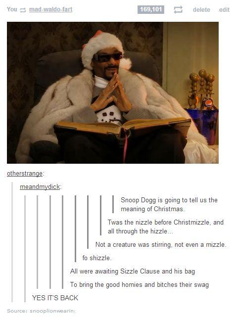 Snoop Dogg tells a Christmas story - Imgur