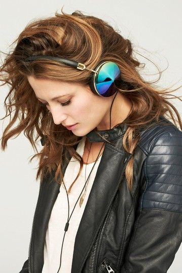 Taylor FRENDS with Benefits Over-Ear Oil Slick/Gold/Black Headphones by Frends Fashion Headphones on @HauteLook