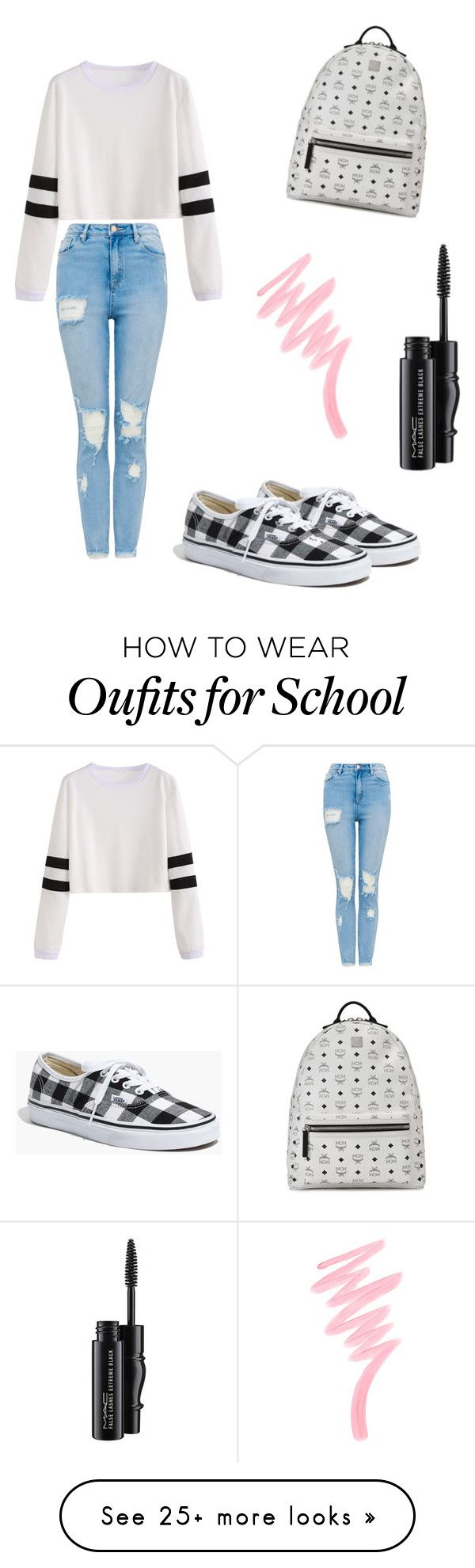 """School"" by krisiee on Polyvore featuring MCM, Madewell, MAC Cosmetics and Victoria's Secret"