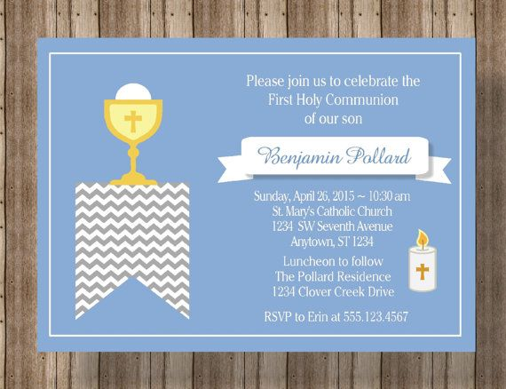 17 best Invitations - First Communion images on Pinterest First - best of invitation wording lunch to follow