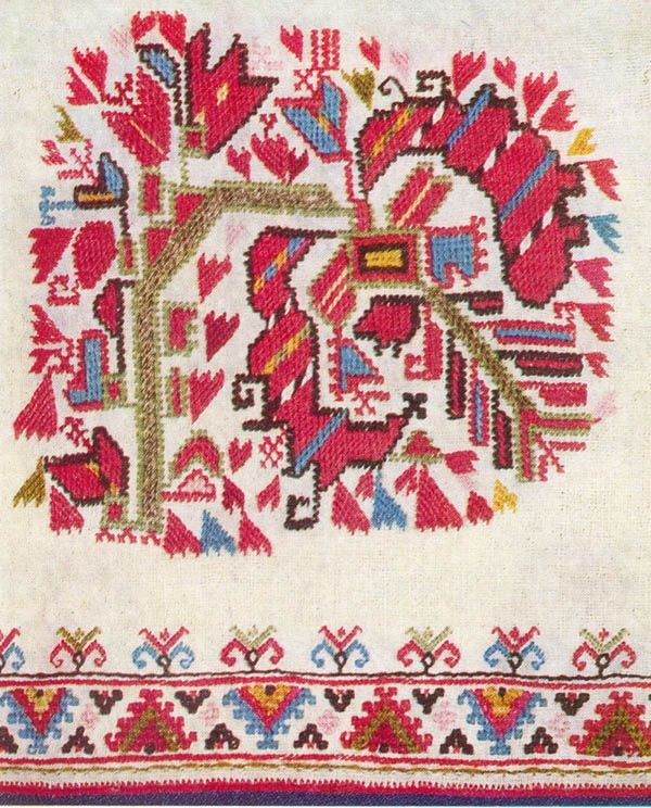 Embroidered sleeve of a woman's chemise, Samokov region
