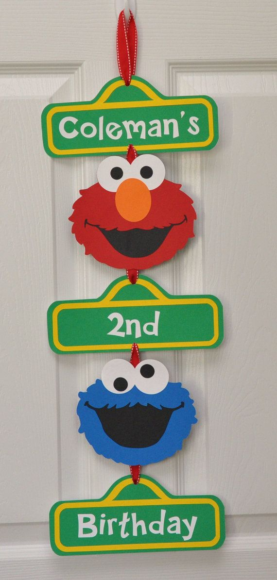 Hey, I found this really awesome Etsy listing at https://www.etsy.com/listing/174649136/sesame-street-birthday-party-door-sign