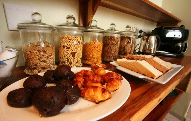 Black forrest muffins & croissants... freshly baked daily http://wikivillage.co.za/marlin-lodge-st-lucia