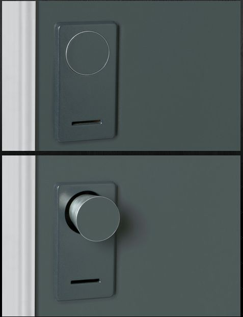 Retractable doorknob, i can see this being a really wonderful thing
