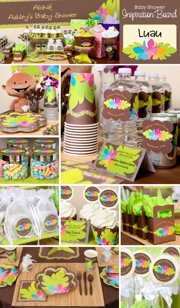 Set Sail To The South Pacific With A Hawaiian Luau Party Theme Hawaiian  Baby Shower Decoration Ideas