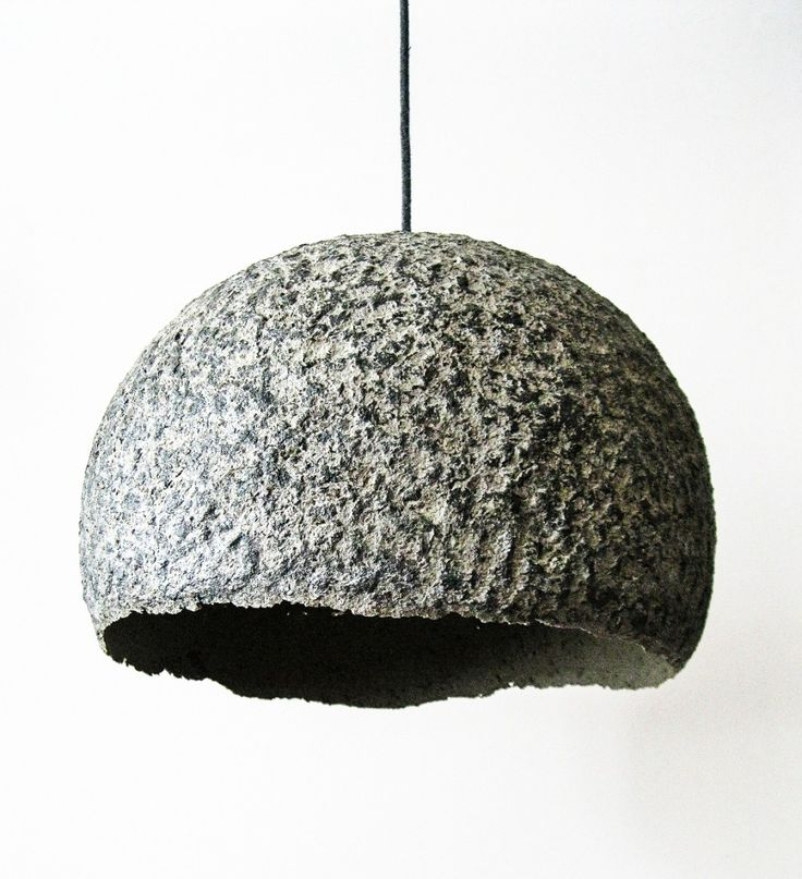Hand made lamp from paper pulp made