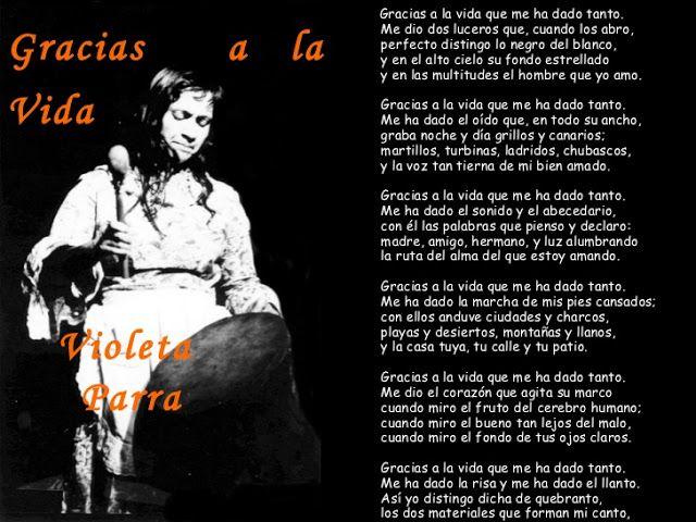 """VIOLETA PARRA: """"GRACIAS A LA VIDA"""", himno de amor por la existencia y humanismo profundo"""