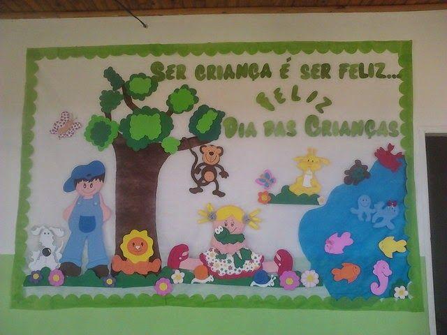 Aqui nessa publicação mostrarei diversos exemplos de painéis para o Dia das Crianças . Alguns bem simples, porem com certeza iriam fazer mui...