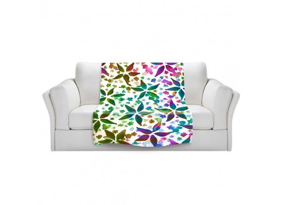 Ebi Emporium Fine Art Colorful Warm and Cozy Fleece Blanket #throwblanket #blanket #decor #JuliaDiSano #DianocheDesigns #chic #girly #spring #floral #garden #rhapsody #flowers #pattern #pink #teal #green #blue #abstract #art #fineart #painting #whimsical #decorative #livingroom #bedroom #bedding #dorm #fleece