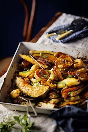 Roasted winter vegetables with vanilla and orange. www.rooirose.co.za