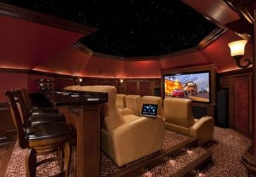 Dream Media Rooms: home theater and pool table-just a few steps from the wine cellar and bar. Description from pinterest.com. I searched for this on bing.com/images