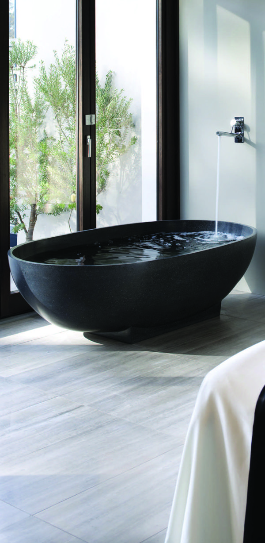Apaiseru0027s unique stone composite bathware is featured