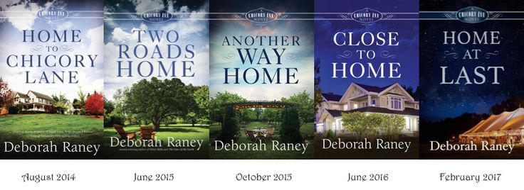 So excited that all the covers are out now! Above are the release dates for the books in the Chicory Inn Novels series. Order here: http://www.amazon.com/Deborah-Raney/e/B000APFUUA/ref=sr_tc_2_0