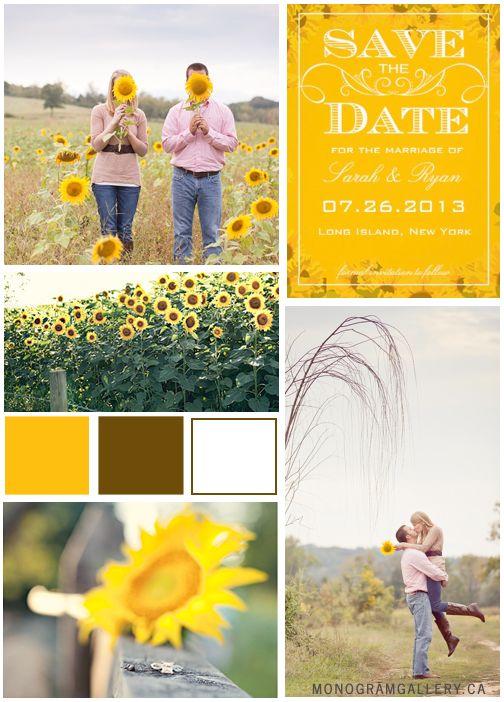 51 best Sunflower Wedding images on Pinterest