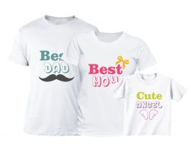 Set tricouri Familie - Best Family