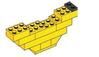 Banaan van lego (makkelijk)