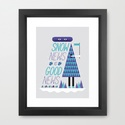 Snow News is Good News Art Print by Andrew Groves | Society6