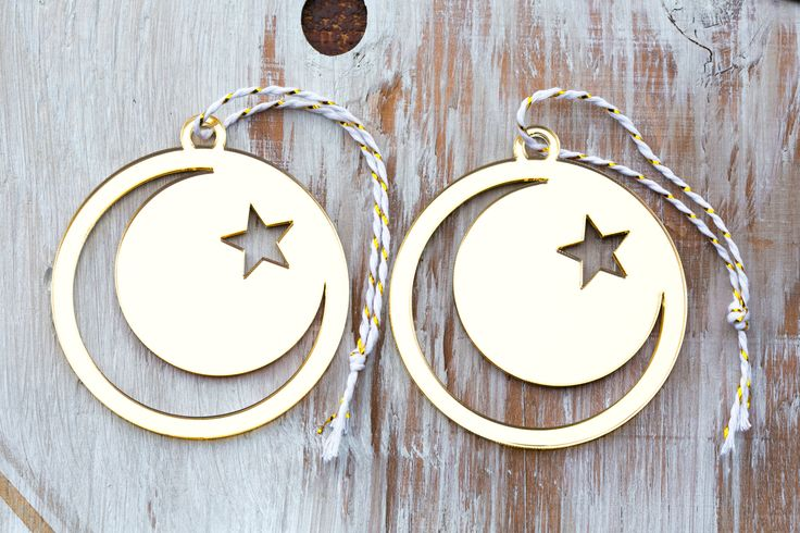 Islam Ornament, Crescent Moon & Star Ornament, Ramadan Gift, Muslim, Islam Gifts, EID Gifts, Peace Ornaments, Gifts for Muslims