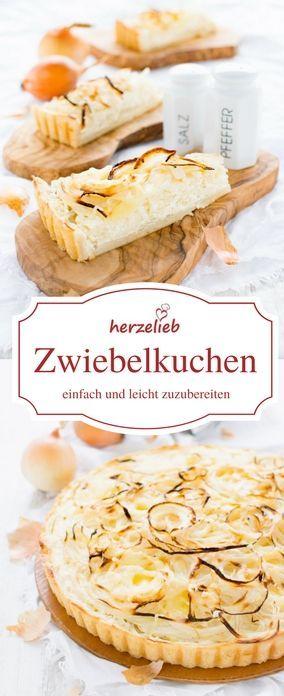 Zwiebelkuchen Rezept von herzelieb. Vegetarisch, aber  auch gut abwandelbar. Ohne Hefeteig und und ohne Backpulver sonderm mit Quarkölteig. Ganz leicht und einfach nachzumachen!  #foodblogger #vegetarisch #quarkölteig