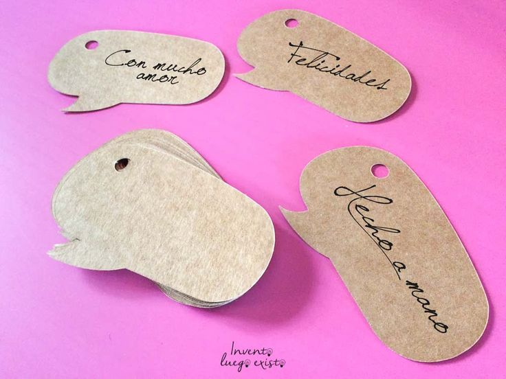 #Etiquetas para #Scrapbooking, ideales para decorar regalos o productos de una tienda. 30 unidades desde 4,5€